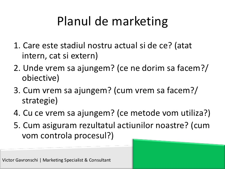 Planul de marketing